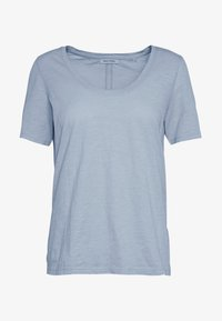 T-SHIRT, SHORT SLEEVE, ROUND NECK - Jednoduché triko - light blue