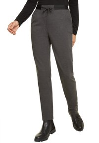 comma casual identity - REGULAR FIT - Tracksuit bottoms - dark grey melange - 4