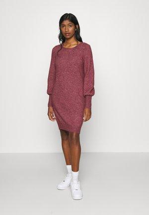 VMSIMONE O-NECK - Strikket kjole - cabernet/melange
