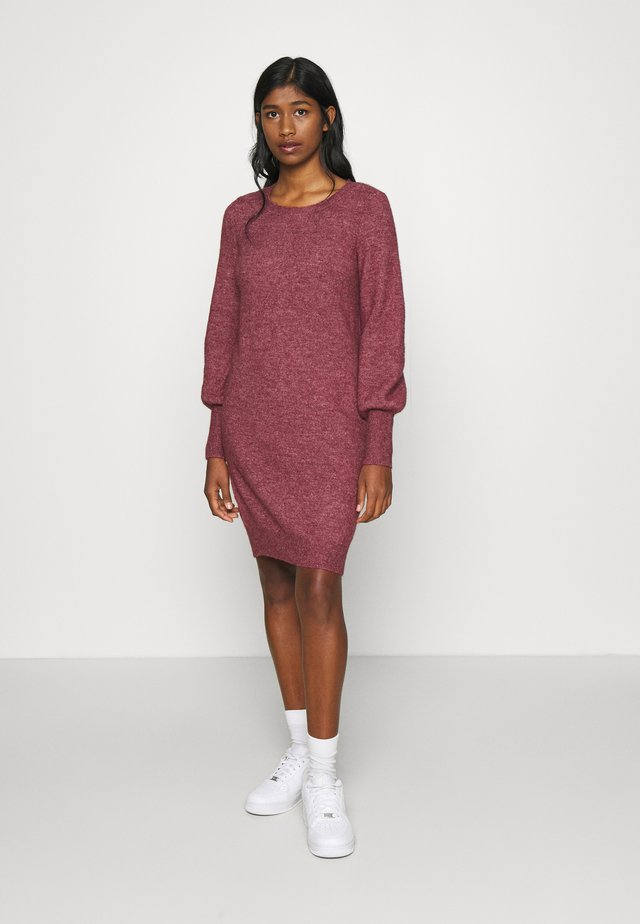VMSIMONE O-NECK - Jumper dress - cabernet/melange