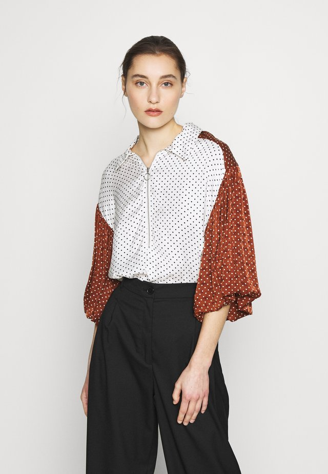 LESLIE BLOUSE - Camicetta - white/black
