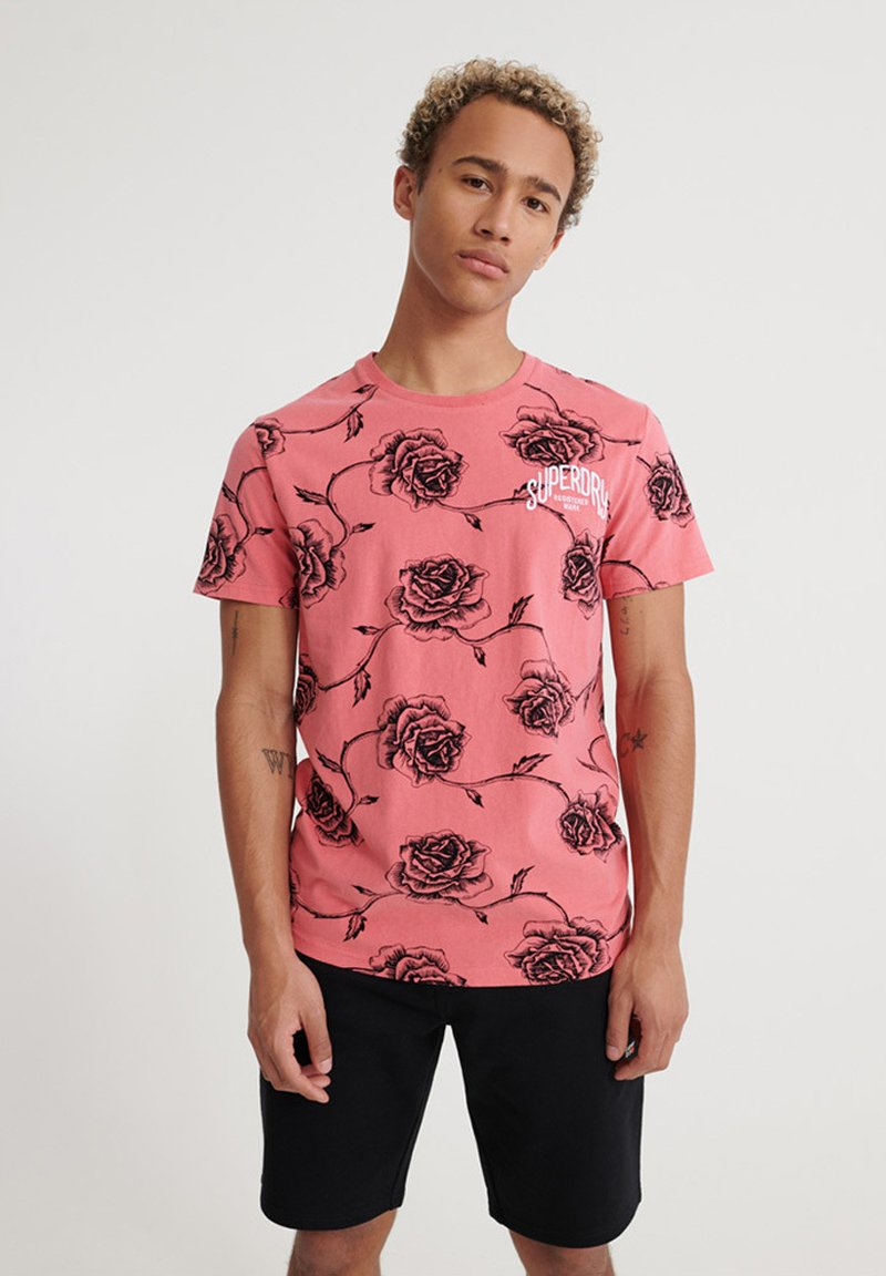 Superdry SUPPLY - T-Shirt print - ice marl/grau E6hC18