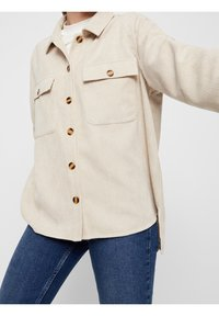 Pieces - Button-down blouse - white pepper - 1
