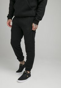 SIKSILK - ELASTIC CUFF PANT - Tracksuit bottoms - black - 0