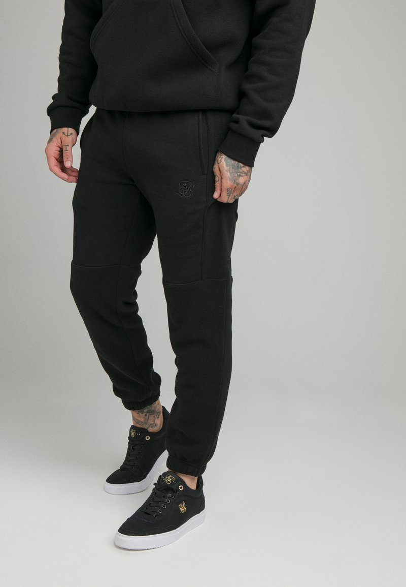 SIKSILK - ELASTIC CUFF PANT - Tracksuit bottoms - black
