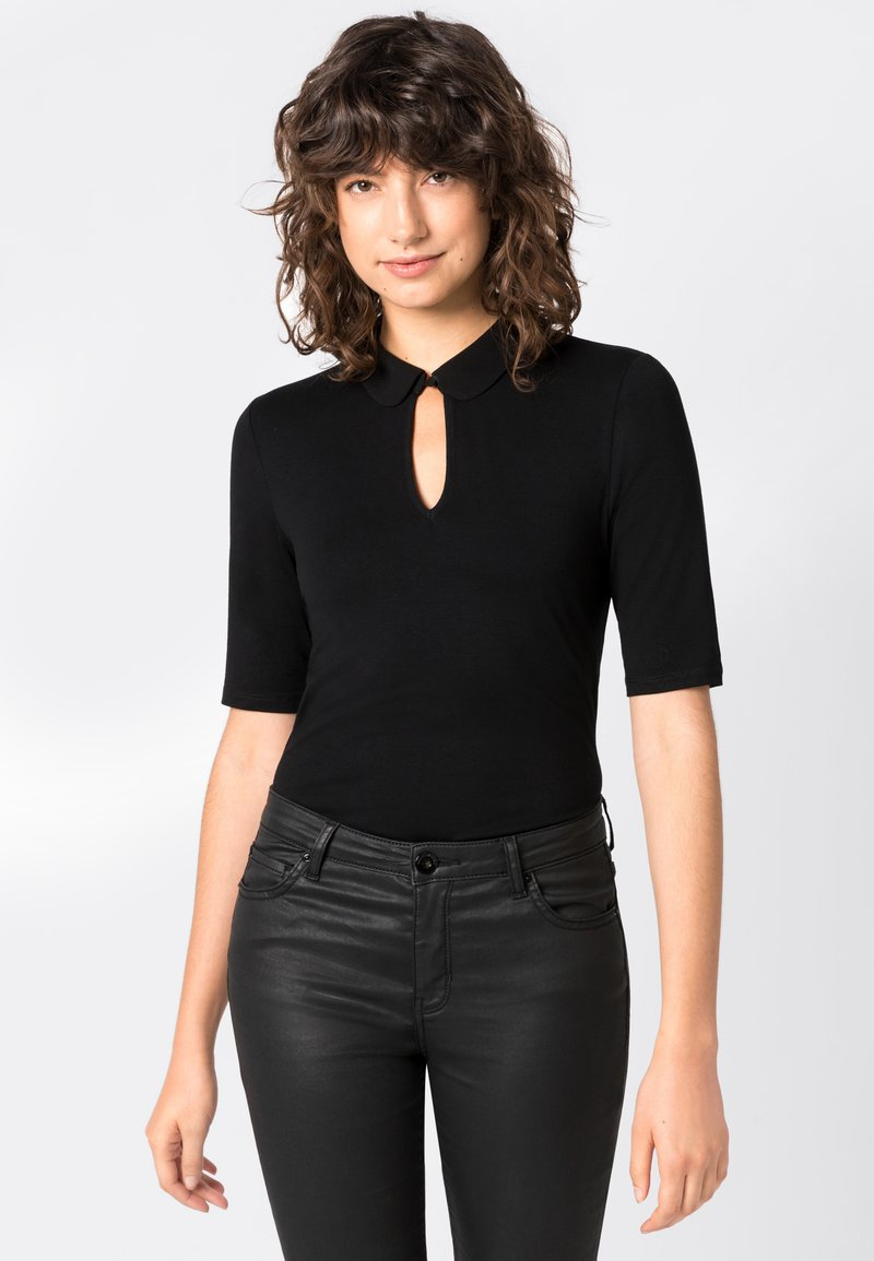 HALLHUBER - Print T-shirt - black