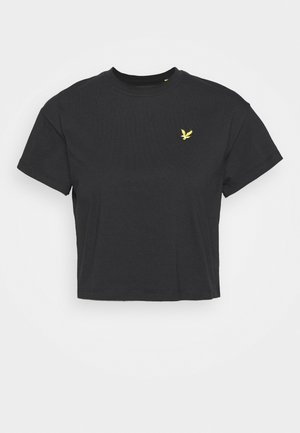 CROPPED - Basic T-shirt - jet black