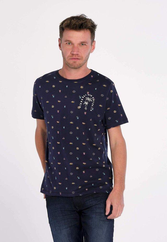 T-shirt print - blauw
