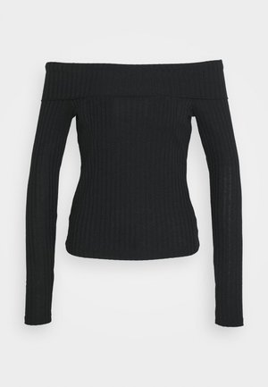 Top sdlouhým rukávem - black