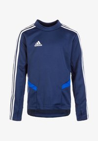 adidas Performance - TIRO 19 SWEATSHIRT - Sports shirt - dark blue / bold blue / white - 0