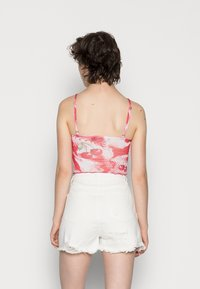 Jaded London - RING DETAIL PRINTED CAMI WITH LACE EDGING CHERRY DOT PRINT - Top - red/white - 2