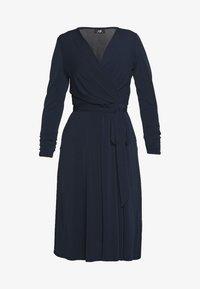 Wallis - WRAP FIT AND FLARE DRESS - Sukienka z dżerseju - navy blue - 3