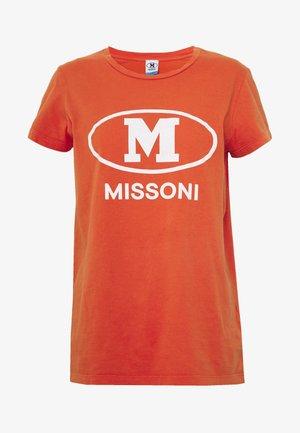 SHORT SLEEVE - Print T-shirt - orange
