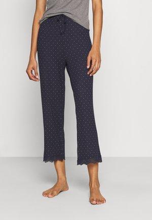NIGHT TROUSERS DOT - Pyžamový spodní díl - dark blue