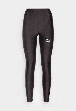 CLASSICS SHINY HIGH WAIST - Leggingsit - puma black