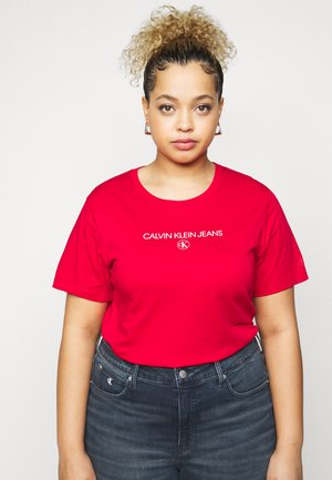 ROUND TEE - T-shirt imprimé - red