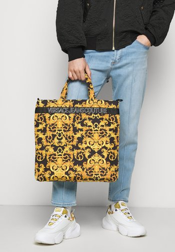 UNISEX - Tote bag - black/gold