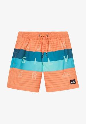 WORD BLOCK VOLLEY YOUTH - Swimming shorts - nectarine