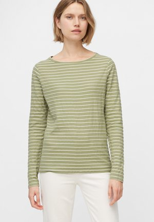 Long sleeved top - multi/dried sage