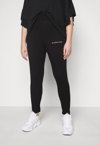 Missguided Plus - PLUS SIZE BRANDED - Leggings - Trousers - black - 0