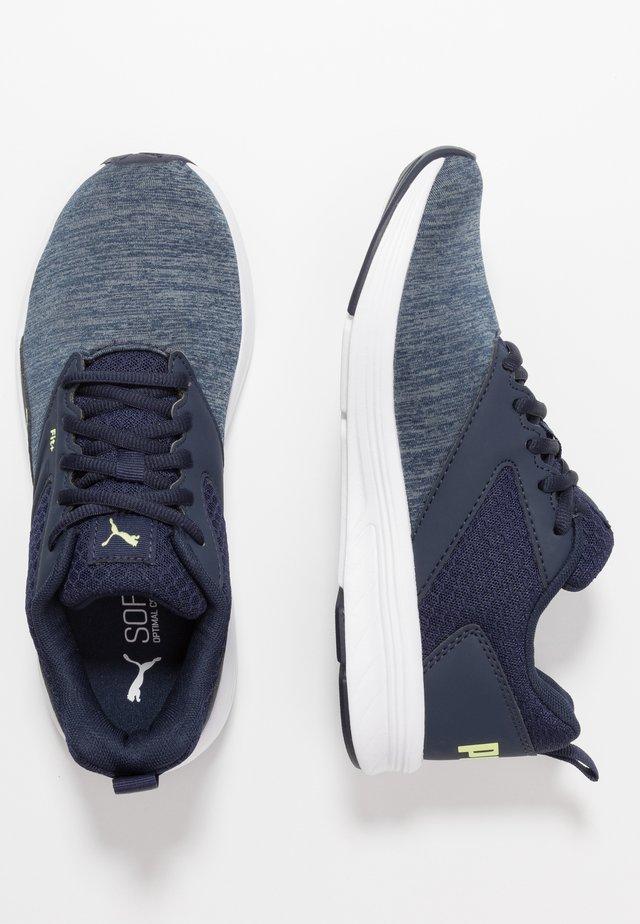 NRGY COMET - Neutral running shoes - peacoat/sharp green/white
