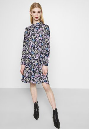 JDYPIPER DRESS - Shirt dress - black iris/purple/parisian blue