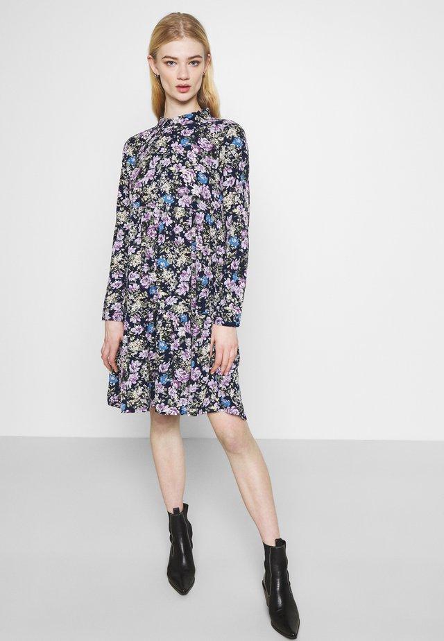 JDYPIPER  DAYDRESS - Shirt dress - black iris/purple/parisian blue