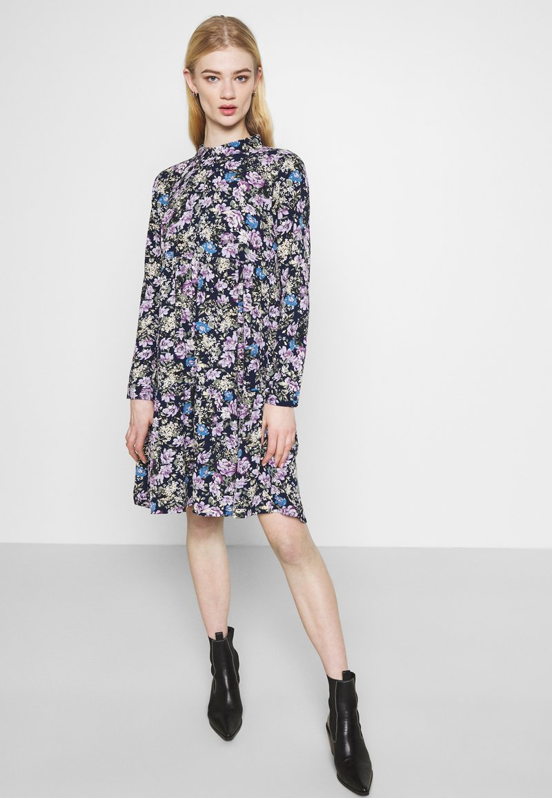 JDY - JDYPIPER  - Skjortekjole - black iris/purple/parisian blue