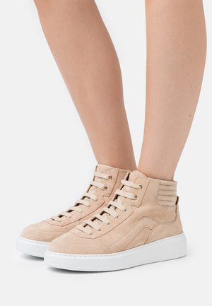 CHAIN  - High-top trainers - nude