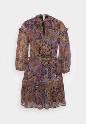 OBJMARCIN SHORT DRESS - Hverdagskjoler - black/ethnic multi