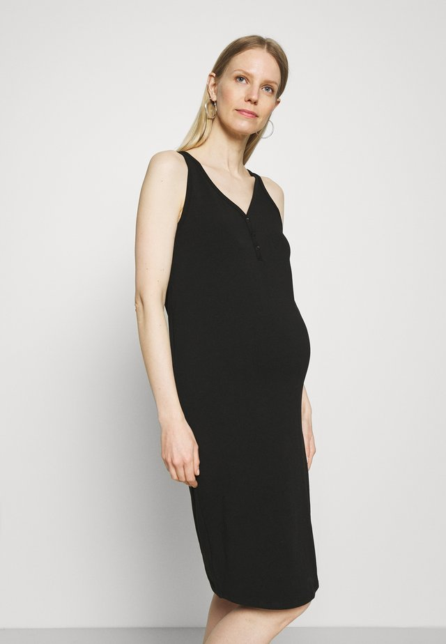 OLMSALLY CALF DRESS - Vestido ligero - black