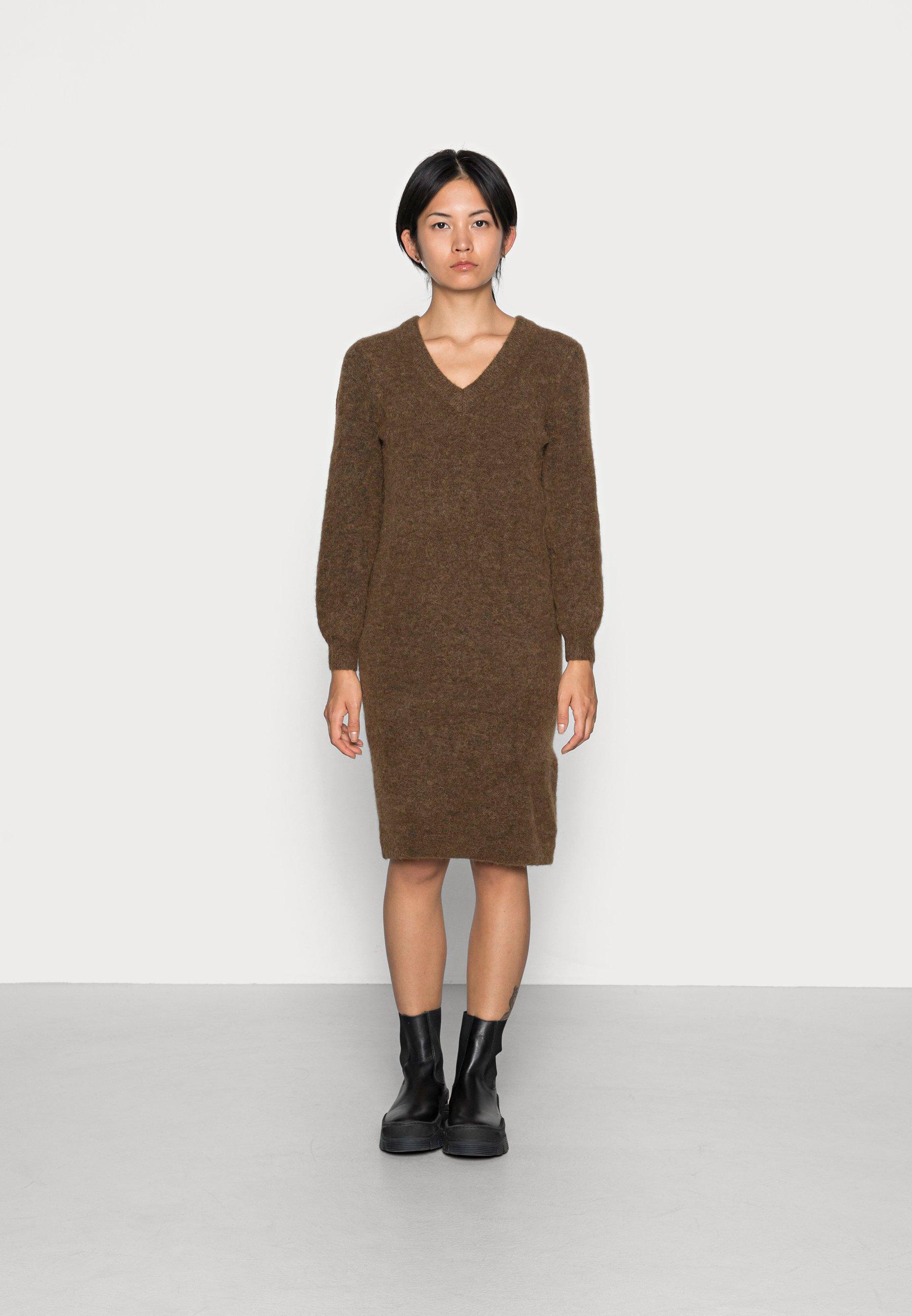 Mujer OBJNETE V NECK DRESS - Vestido de punto