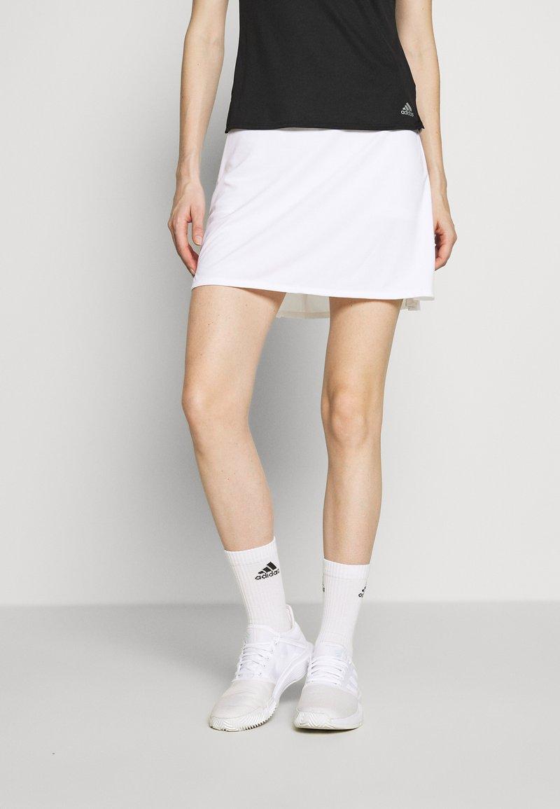 adidas Performance - CLUB LONG SKIRT - Spódnica sportowa - white/silver
