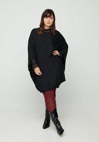 Zizzi - EINFARBIGES MIT STRUKTUR - Day dress - black - 1