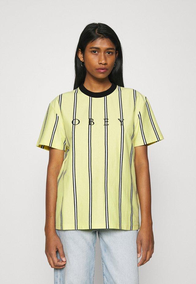 SHANKS  - Camiseta estampada - lemon