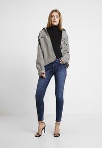 Rich & Royal - LEOPARD TAPE - Jeans Skinny Fit - denim blue - 1