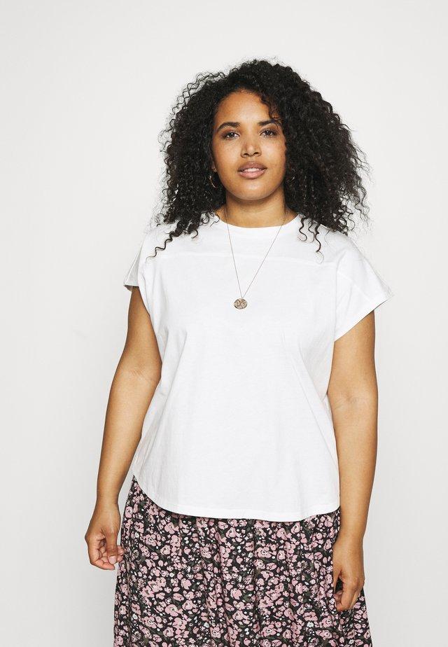 PCLOTIO LOUNGE - Camiseta básica - bright white