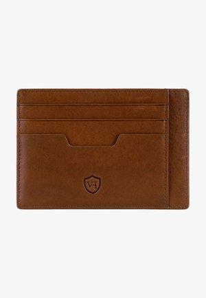 Business card holder - cognac-braun