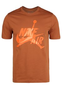 Jordan - CLASSICS  CREW - T-shirt med print - dark russet / orange trance - 0