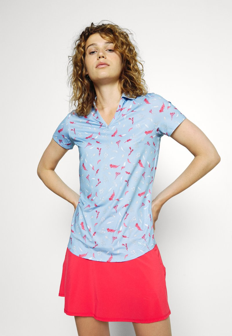 Puma Golf - MATTR GREENERY - Polo shirt - placid blue