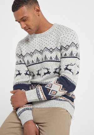 CHRISTMAS STAG - Jumper - grey