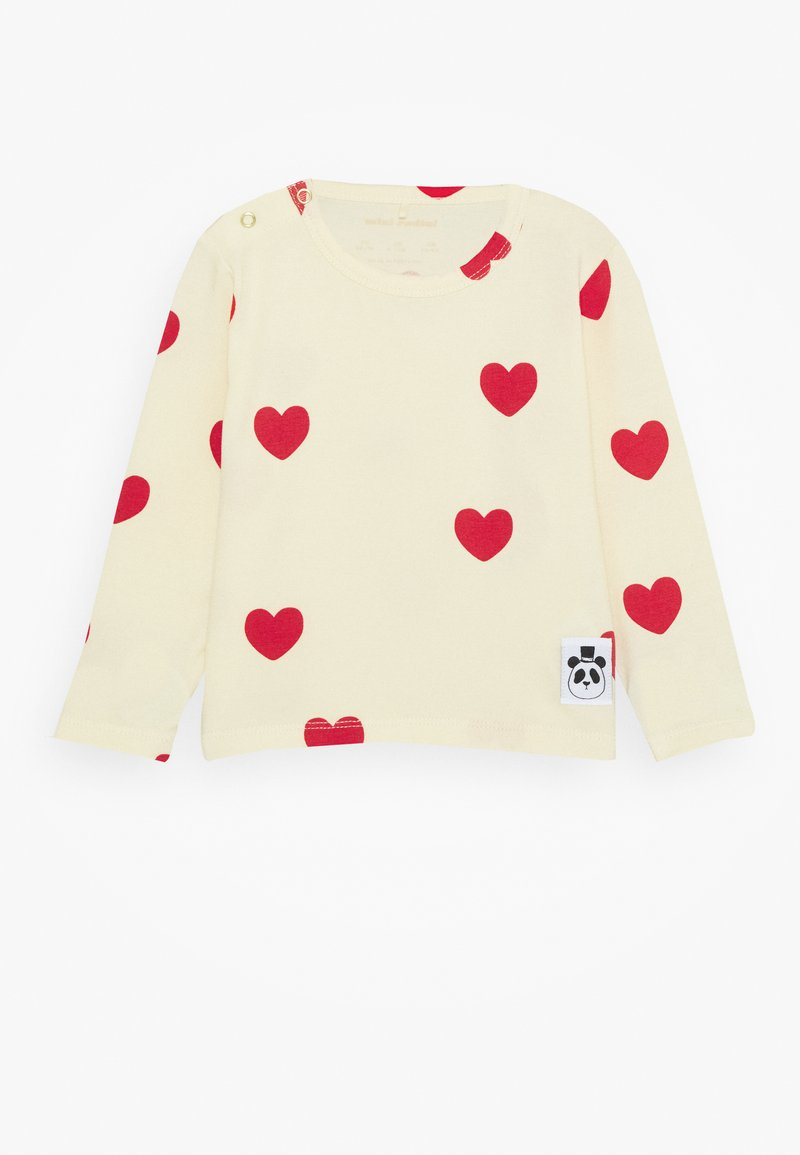 Mini Rodini - BABY HEARTS GRANDPA - Long sleeved top - offwhite
