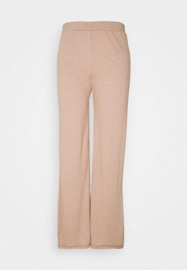 PCMOLLY PANT LOUNGE - Leggings - Trousers - warm taupe melange