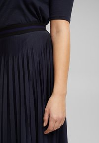 Esprit - A-line skirt - navy - 3