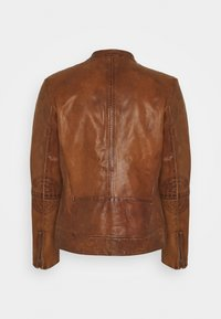 Goosecraft - KYLL BIKER - Leather jacket - tabacco - 1