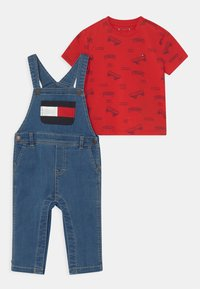 Tommy Hilfiger - BABY SET UNISEX - Salopette - denim medium - 0