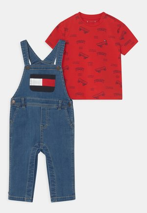 BABY SET UNISEX - Hängselbyxor - denim medium