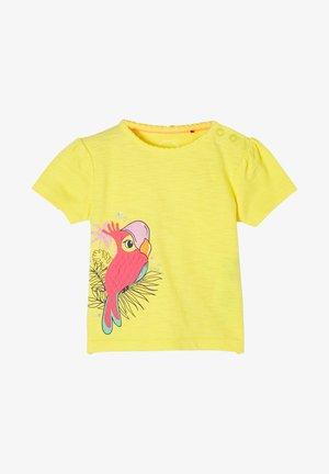 Print T-shirt - light yellow