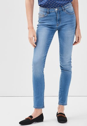Slim fit jeans - denim double stone