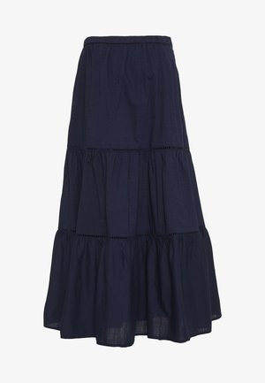 TIERD MIDI SKIRT - A-Linien-Rock - navy uniform